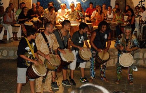 Corso di percussioni africane con RuggeroArtale a Etnie 2012 - Foto di Antonella Palmucci