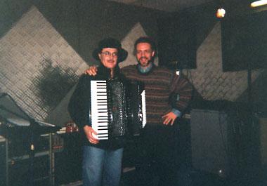 Eduardo De Crescenzo e Ruggero Artale durante la registrazione di Suruba, di Genovesi-Artale,  per il cd Danza del Karl Potter Percussion Group