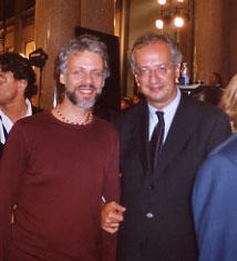 Ruggero Artale e Walter Veltroni, ex sindaco di Roma.  Notte Bianca 2004 - Foto di Giovanna Cutuli